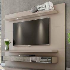 Suspenso para ocupar pouco espaço no ambiente, espelhos e LED para proporcionar ainda mais elegância na decoração.