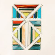 Stained glass triangle suncatchers by Debbie Bean - Also make great christmas tree ornaments