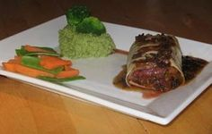 Tasty Recipe: Stuffed Ostrich Fillet With Truffle Sauce Ostrich Meat, Meat Recipes, Cooking Recipes, Truffle Sauce, Cuban Dishes, Beef, Venison, Menu Design, Kitchens