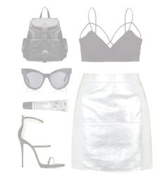 """""""New Year"""" by mode-222 ❤ liked on Polyvore featuring Giuseppe Zanotti, Humble Chic, Topshop, Karen Walker and Cowshed"""
