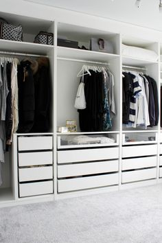 Create More Space in Your Homes With Ikea Pax Closet Ikea Pax Closet, Bedroom Closet Doors, Ikea Pax Wardrobe, Bedroom Closet Storage, Closet Drawers, Bedroom Closet Design, Bedroom Drawers, Bedroom Wardrobe, Wardrobe Closet