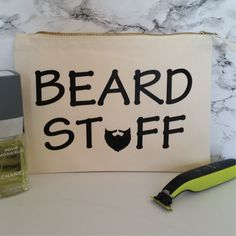 Beard Stuff Toiletry Bag For Men. Beard Bag. Man Bag. Accessory Bag. Beard Grooming Kit Bag. Moustache Bag. Gifts For Dad. Gifts For Him. by SoPinkUK on Etsy