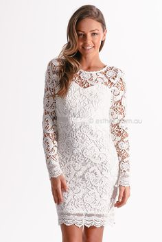 orchard lace cocktail dress   incredible selection of whites for all occasions, take advantage of our free and fast international delivery. stunning garments direct to your door, www.esther.com.au xx