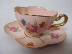 shopgoodwill.com: Leneige 1947 Pink Porcelain Cup and Saucer Chocolate Pots, Chocolate Coffee, Pink Cups, Antique China, Coffee Set, Tea Sets, High Tea, Teacups, Cup And Saucer