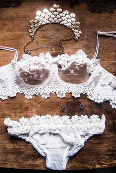 Bridal Lingerie Set  You can find the Boudoir Dress as a separate listing here: http://etsy.me/2xP0hOJ  I create chic lingerie for modern chic girls. Only the most striking laces are used in design so you could knock his socks off with your bedroom look ;)  DELIVERY Ready to ship in