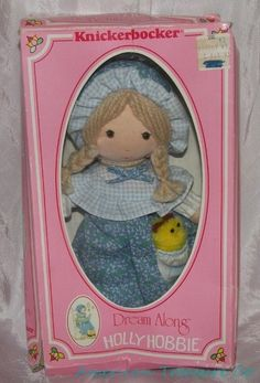 Vintage Holly Hobbie Carrie Friend-Dream Along-RARE-Knickerbocker Rag Doll & Pet Holly Hobbie, New Dolls, Vintage Advertisements, Old And New, Teddy Bear, Pets, Hobbies, Advertising, Animals