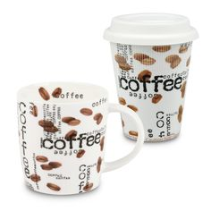 2 Piece Coffee Collage to Stay and to Go Mug Set