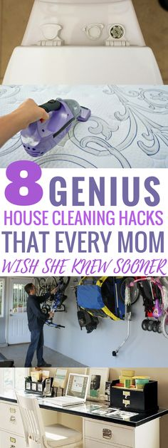 These home cleaning hacks are AMAZING! I am so glad I found these to help me ORGANIZE and CLEAN my entire home. With spring around the corner, this list is perfect! Pin this for later!