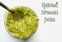 SKINNY Roasted Broccoli Pesto - Lightened up using avocado instead of olive oil #HEALTHY #VEGAN #GLUTENFREE