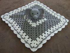 Crochet elephant lovey/security blanket