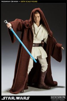 Obi-Wan Kenobi - Jedi Padawan Figure from Star Wars Episode I The Phantom Menace. It is made by Sideshow Collectibles and is 1:6 scale (approx. 30cm / 11.8in high). http://star-wars.minimodelfilmstuff.co.uk/starwars-collectable/star-wars-episode-i-the-phantom-menace-figure-sideshow-collectibles-100028 Sideshow Collectibles is proud to introduce the newest entry in the Order of the Jedi series, the Obi-Wan Kenobi: Padawan Sixth Scale Figure The Obi-Wan Kenobi: Jedi Padawan Six...