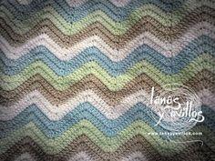 Tutorial Manta Zig Zag a Crochet o Ganchillo Paso a Paso en Español - YouTube