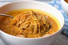 Low FODMAP Pumpkin noodle soup