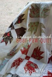 Vintage Inspired Bear Paw Quilt « Moda Bake Shop