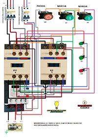 Esquemas eléctricos: Inversion sentido de giro motor trifasico pasando ...