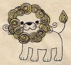 Unique and Awesome Embroidery Designs Embroidery Monogram, Embroidery Applique, Embroidery Patterns, Machine Embroidery, Phi Mu Crafts, Big Little Canvas, Lion Design, Urban Threads, Like A Lion