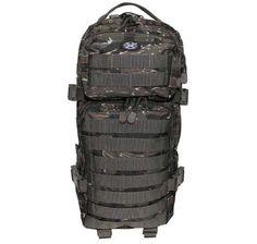MFH US Rucksack, Assault I, tiger stripe / mehr Infos auf: www.Guntia-Militaria-Shop.de
