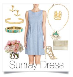 """""""Sunray"""" by paulinhag on Polyvore featuring Stella & Dot, Donna Morgan, Sergio Rossi and Diane James"""