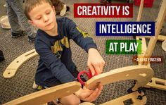 """""""Creativity is intelligence at play."""" Wise words from Albert Einstein about the power of play for children."""