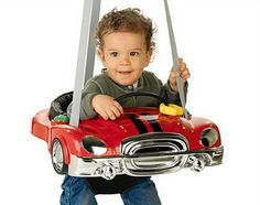 Mommy Blog Expert: Musical Race Car Exerciser, Baby/Toddler ... Bouncers, Modern Family, Cool Baby Stuff, Race Cars, Cribs, Baby Car Seats, Musicals, Dads, Racing