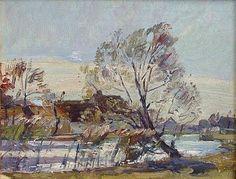 Осенний пейзаж на реке Дахау