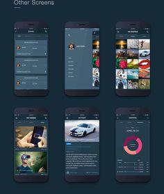 Fire Social App - Free Mobile UI Kit on Behance
