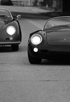 Porsche 356 Speedster and 550 Spyder