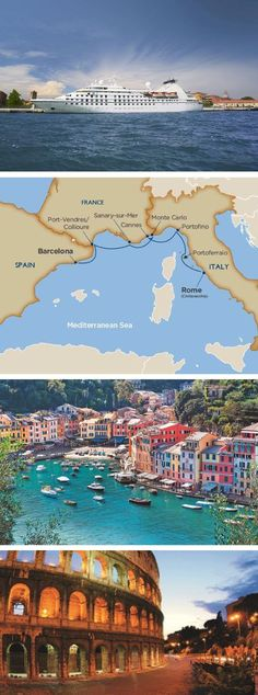 "Experience the Riviera by yacht with Windstar Cruises ""Glitter & Glam of the Rivieras"" voyage. Explore Rome, Portoferraio, Portofino, Cannes, Monte Carlo, Barcelona, Port Vendres and more!"