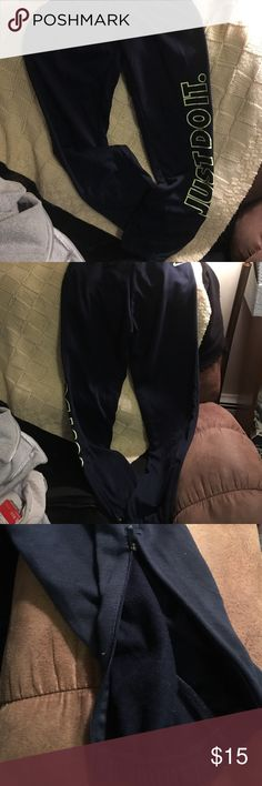 Nike Dry Fit Sweats S Brand new. Authentic. Size small. Zipper on each ankle. Pockets. Navy blue Nike Pants Track Pants & Joggers