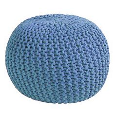 METRO Pouf Knitted Ottoman from Poco at Crossroads Homemaker Centre