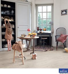 The bright and beautiful Quickstep Largo Dominicano Oak Grey is a fabulous choice for any home. Get at FDF today. Grey Laminate Flooring, Carpet Flooring, Vinyl Flooring, Kitchen Flooring, Hardwood Floors, Petite Kitchen, Quick Step Flooring, Sol Pvc, Flooring Companies