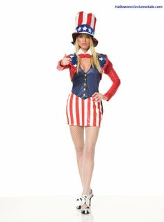 Patriotic Striped GIANT TALL UNCLE SAM Stove Top Hat USA Costume July 4th