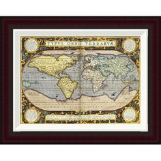 "Global Gallery Theatrum Orbis Terrarum by Abraham Ortelius Framed Graphic Art Size: 15.7"" H x 20"" W"