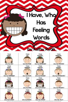 Are you tired of your students using the same boring feeling words like happy, sad, and angry? Help them develop stronger vocabulary to express feelings by playing the ever popular, I Have, Who Has game. There are 24 feeling words in this fast paced game. I've included both color and black and white copies for your printing needs.   Your students will be so happy, I mean--EXCITED, ELATED, and DELIGHTED to play, and you will be THRILLED at the increase in their feelings vocabulary!