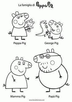 Printable Peppa Pig Coloring Pages. Have a Joy with Peppa Pig Coloring Pages. Do your children like to color pictures? If they do, the Peppa pig coloring pages Peppa Pig Coloring Pages, Summer Coloring Pages, Colouring Pages, Coloring For Kids, Peppa Pig Familie, Peppa Pig Drawing, Peppa Pig Imagenes, Peppa Pig Printables, Papa Pig