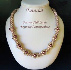 ELIXIR beaded necklace beading tutorial by PeyoteBeadArt on Etsy