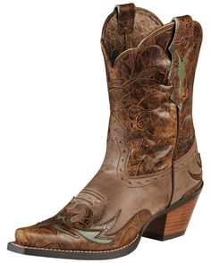 Women's Dahlia Boot - Dainty Brown/Cognac Floral