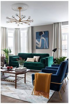 50 Chic Living Room Décor Trends and Ideas to Transform your Home #emerald #green #lounge #emeraldgreenlounge Living room decor trends put those final touches on your dream home with ease. Even though trends tend to change with time, some stick around for decades and can redefine your home interior. The best living room furniture ideas of this season combine bright pops of color with smart functionality and even brilliant lighting. And […] Living Room Green, Chic Living Room, Living Room Sofa, Living Room Furniture, Apartment Living, Living Rooms, Blue Furniture, Rustic Furniture, Modern Furniture