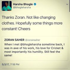And when the streak of good things is on a roll, it only gets better. Wonderful chatting with #HarshaBhogle on twitter. What a gem of a gentleman!  My Piece on him, soon. Only on TheLocalOutsider.com  #travelblogger #instagood #picoftheday #instalike #travel #igers #photography #lifestyle #photooftheday #iphoneonly #india #traveler #love #traveling #iphoneonly #tagsforlikes #blogger #photo #instadaily #vivoIPL #IPL #mumbai #luxurylifestyle #luxury  #indianpremierleague #cricket #sport…
