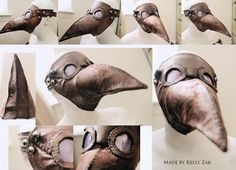 Make your own plague doctor mask