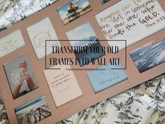 PICTURE FRAME MAKEOVER! Transform your old frames into something that you actually want on your walls. Wall art/ home decor/ easy DIY