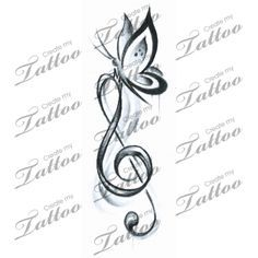 music butterfly tattoo designs - Google Search
