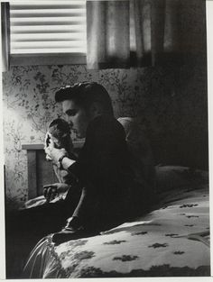 """Taken by photographer Marvin Israel in Elvis's bedroom at 1034 Audubon Drive, Memphis, TN on Monday, May 28, 1956. Take a look inside Marvin Israel's book """" Elvis Presley 1956"""" on https://youtu.be/eH7q26rCWsE"""