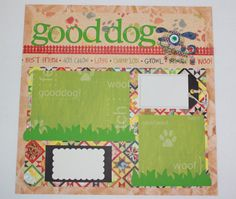 Good Dog premade photo layout to frame or by KindnessPaper on Etsy, $10.00