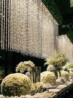 Absolute dreamy wedding decor😍😍 Double tap if you love those waterfall lights✨ Wedding Stage, Wedding Goals, Wedding Events, Wedding Planning, Wedding Ideas, Weddings, Wedding Reception, Reception Decorations, Event Decor