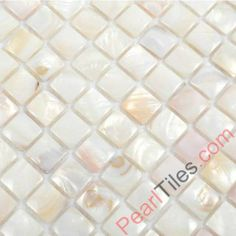 Natural White Convex Mother Of Pearl Mosaic Tiles