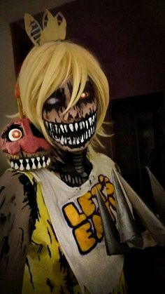 New Disfraz De Foxy- - foxy cosplay suit up fnaf sfm five nights at freddys baby foxy bed time duration 522 miffedcrew 15355 Cosplay Anime, Epic Cosplay, Cosplay Diy, Cosplay Makeup, Amazing Cosplay, Cosplay Outfits, Halloween Cosplay, Costume Makeup, Halloween Makeup