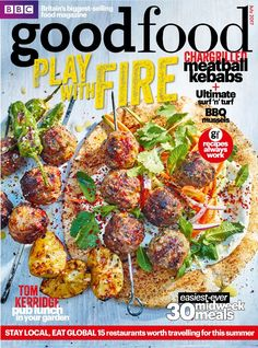 In this 300th Bumper issue: Celebrate with us!    FREE! Cake recipe collection. 22 amazing celebration cakes.    Play with FIRE!  <ul>   	<li>Chargrilled</li>   	<li>Meatball kebabs</li>   	<li>Ultimate surf 'n' turf</li>   	<li>BBQ mussels</li>  </ul>  Easiest ever 30 midweek meals    Tom Kerridge- Pub lunch in your garden    PLUS stay local, eat global- find a hidden restaurant near you!