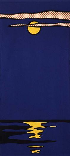 Roy Lichtenstein. Night Seascape. Felt. 1977 (?)