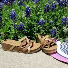 #spring #flowers and #fashion!  #bearpaw #athena #sandals #bearpawstyle #bearpaweurope #bearpaw_kr #bearpawlatam #bearpawmongolia #summer #wildflowers #bluebonnets #texas #style